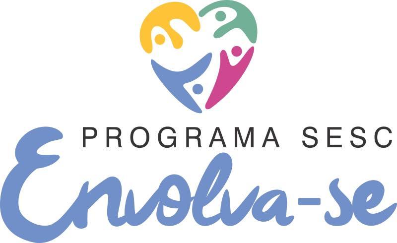 Descrição da imagem: Banner digital do programa SESC tem escrito em letra bastão a palavra Envolva-se em cor azul sobre fundo branco. Fim da descrição.