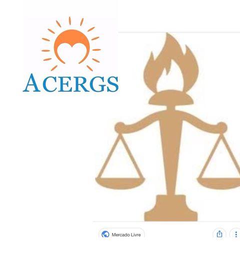 Descrição da imagem: figura como logomarca da ACERGS e símbolo do Serviço Social. Fim da descrição